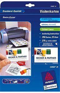 Avery Zweckform Papier Wizytówkowy 85x54mm C32026 25 Id Produktu 1679070