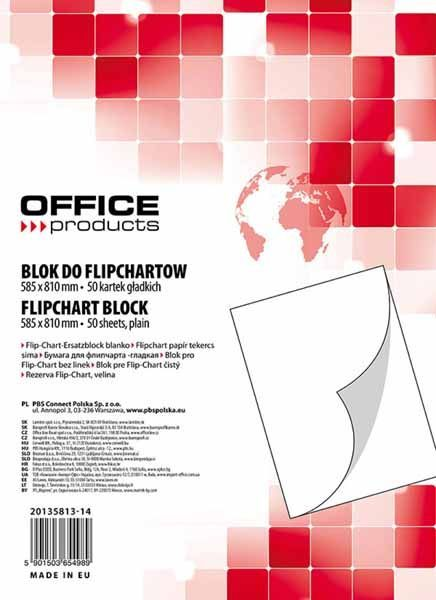 Office Products Blok do Flipchar 58.5 x 81cm, 50 kartek (20135813-14) 1