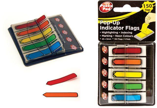 Pukka Pad Zakładka indeksująca 5 kolorowa, 45x12 (6706-NTS) 1