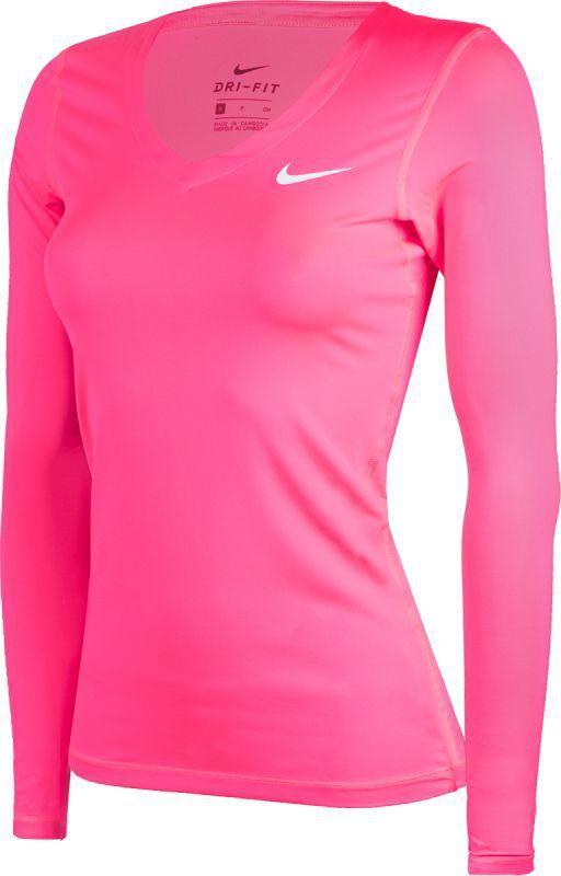 szczegółowy wygląd kupuję teraz na stopach zdjęcia Nike Koszulka damska Top Vctory Long Sleeve różowa r. L (864776-617) ID  produktu: 1680673
