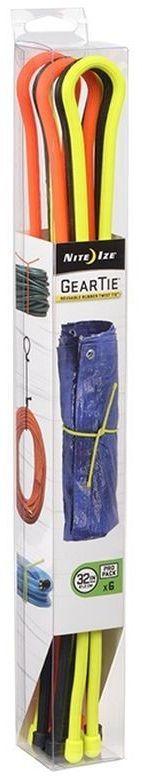 Organizer Nite Ize Zestaw linek Gear Tie Original 32' gumowy mix kolorów 6 sztuk (GTPP32-A1-R8) 1
