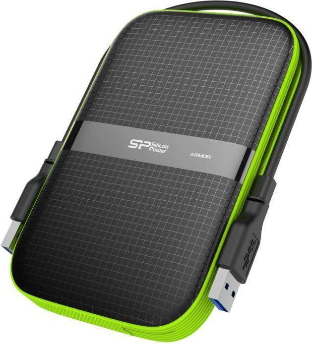 Dysk zewnętrzny Silicon Power HDD Armor A60 5 TB Czarno-zielony (SP050TBPHDA60S3K) 1