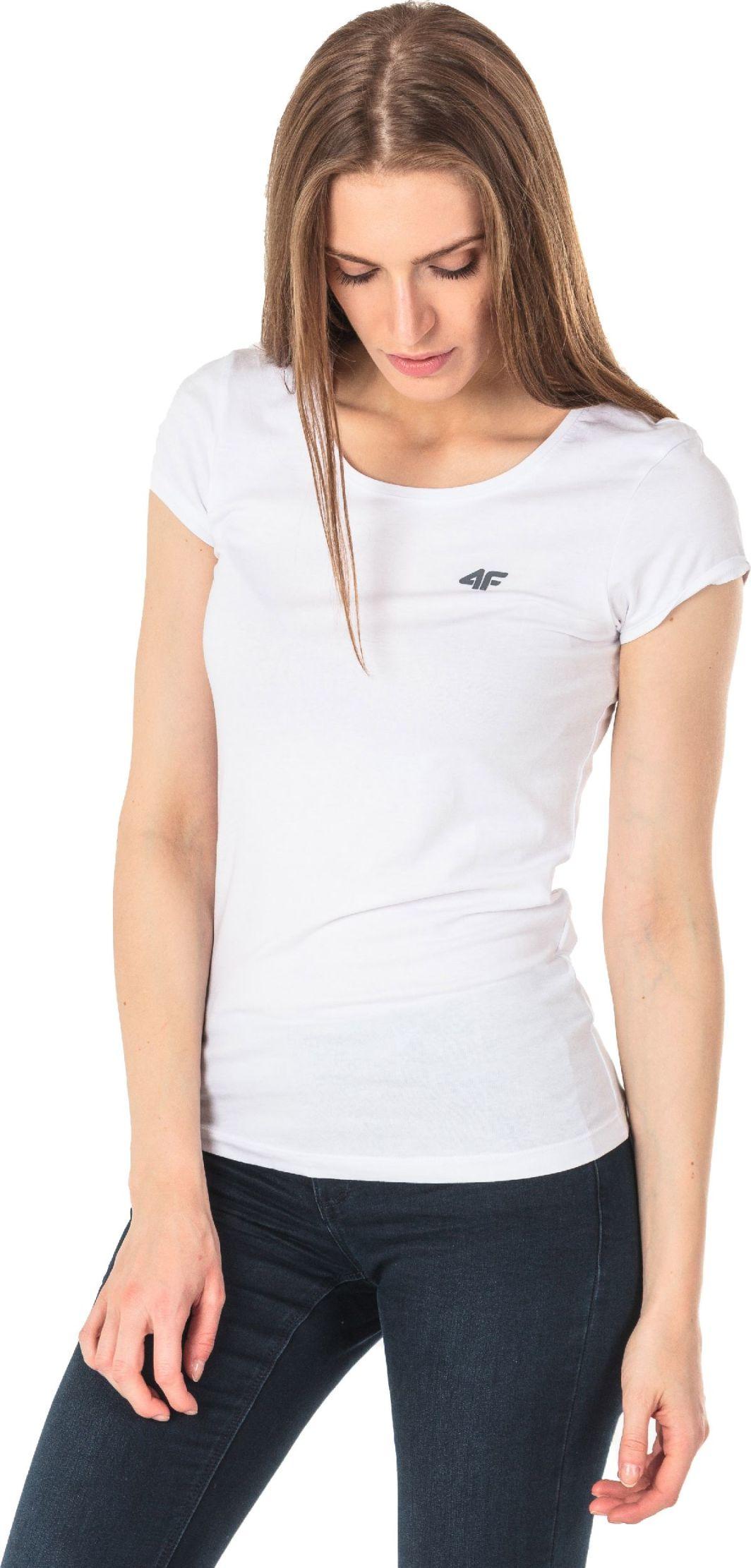 1e7c6d68992 4f Koszulka damska H4L18-TSD002 biała r. XXL w Sklep-presto.pl