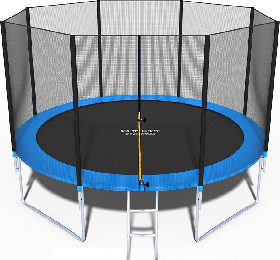 Funfit Trampolina ogrodowa z siatką zewnętrzną 12FT 374 cm 1