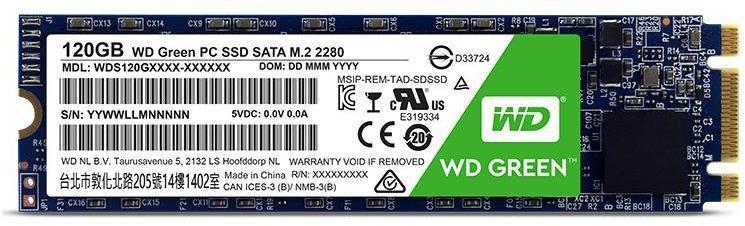 Dysk SSD Western Digital Green 120 GB M.2 2280 SATA III (WDS120G2G0B) 1