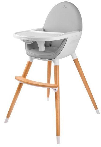 KinderKraft Krzesełko do karmienia Fini szare 1
