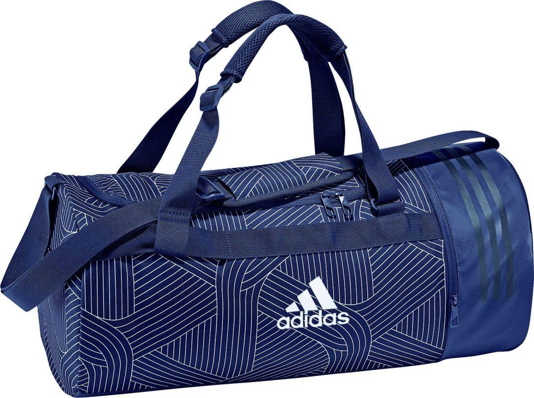 0527adafb2dfd Adidas Torba sportowa Convertible 3 Stripes Duffel Bag Small Navy Blue w  Sklep-presto.pl