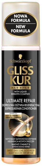Schwarzkopf Gliss Kur Ultimate Repair Ekspresowa odżywka do włosów 200ml 1