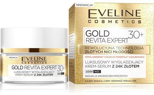 Eveline Gold Revita Expert 30+ Krem-serum wygładzający na dzień i noc 50ml 1