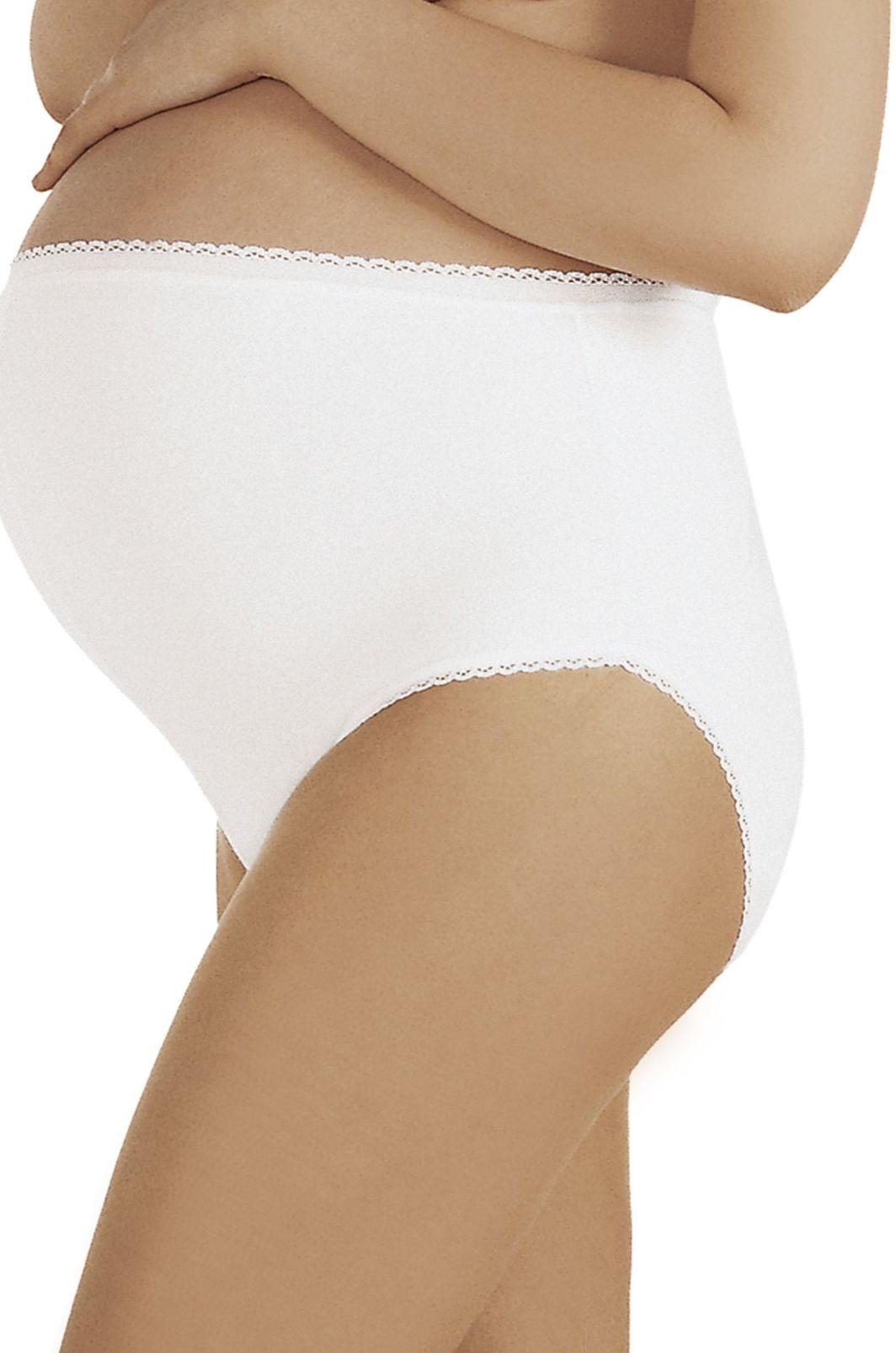 Italian fashion Majtki ciążowe Mama Maxi białe M 1