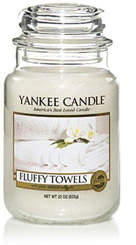 Yankee Candle Large Jar duża świeczka zapachowa Fluffy Towels 623g 1