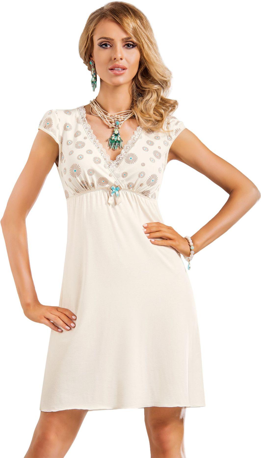 Donna Koszulka nocna Fabia kremowa r. 4XL 1