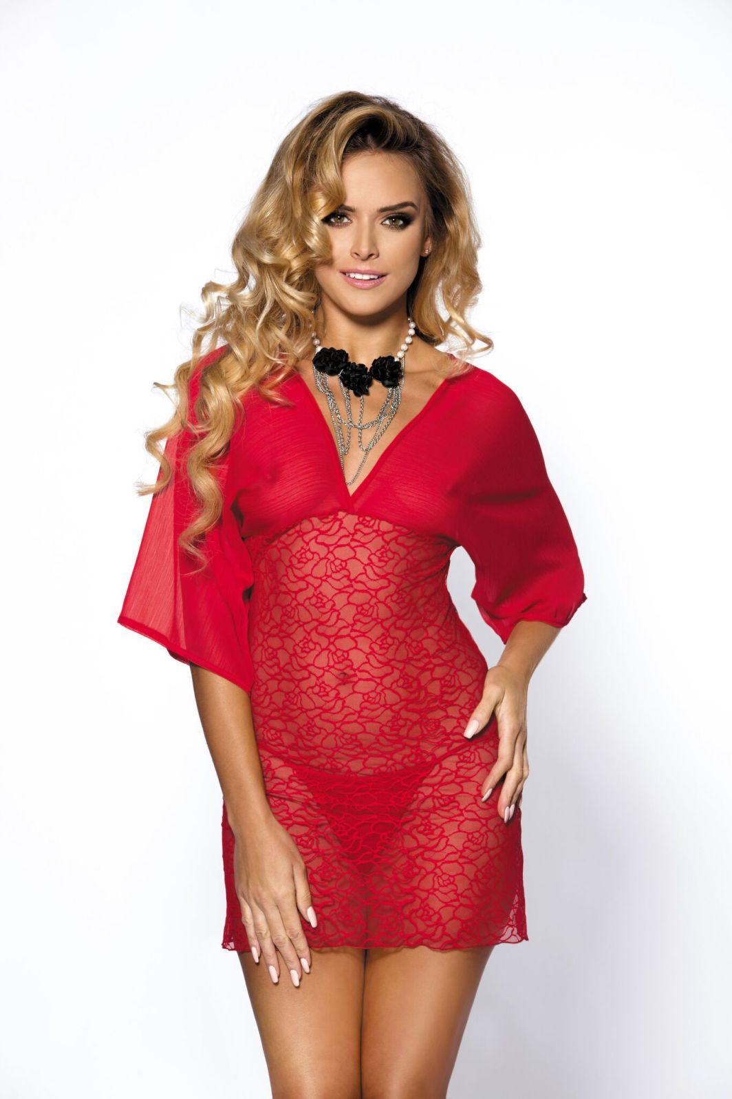 Anais Koszulka Lorna + stringi Czerwona r. XL 1
