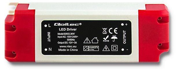 Qoltec Zasilacz LED Driver 36W 3A (50933) 1