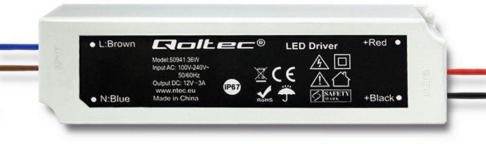 Qoltec Zasilacz LED Driver 36W 3A (50941) 1