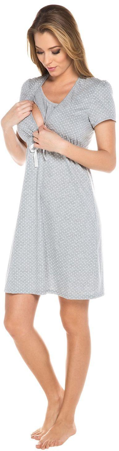 Italian fashion Koszula nocna radość krótki rękaw melnażowa r. 2XL 1