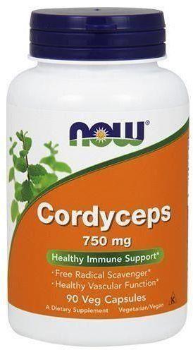 NOW Foods Cordyceps 750mg 90 kapsułek 1