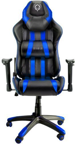Fotel Diablo Chairs X-One Horn Czarno-niebieski 1