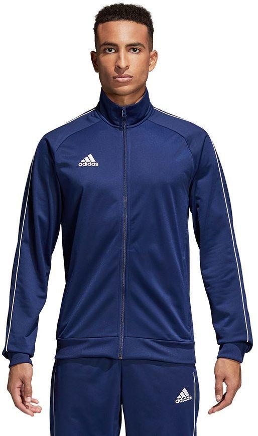 Adidas Bluza męska CORE 18 PES JKT granatowa r. S (CV3563) ID produktu: 1740482