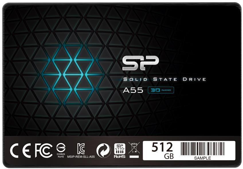 "Dysk SSD Silicon Power A55 512 GB 2.5"" SATA III (SP512GBSS3A55S25) 1"