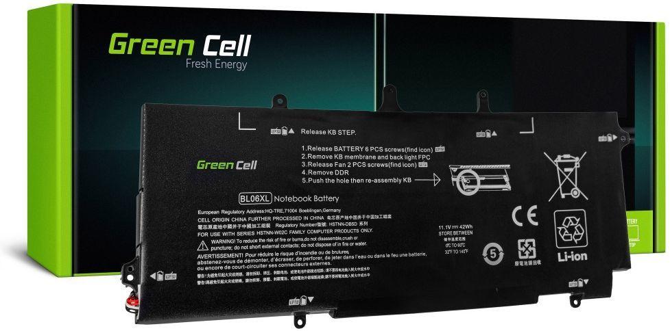 Bateria Green Cell do HP BL06XL HSTNN-DB5D EliteBook 1040 G1 G2 6 cell, 3800 mAh 11.1V (HP108) 1