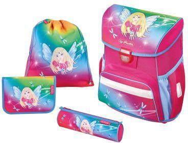 Herlitz Zestaw Schulranzen Loop Plus Rainbow Fairy różowo-błękitny (50013845) 1