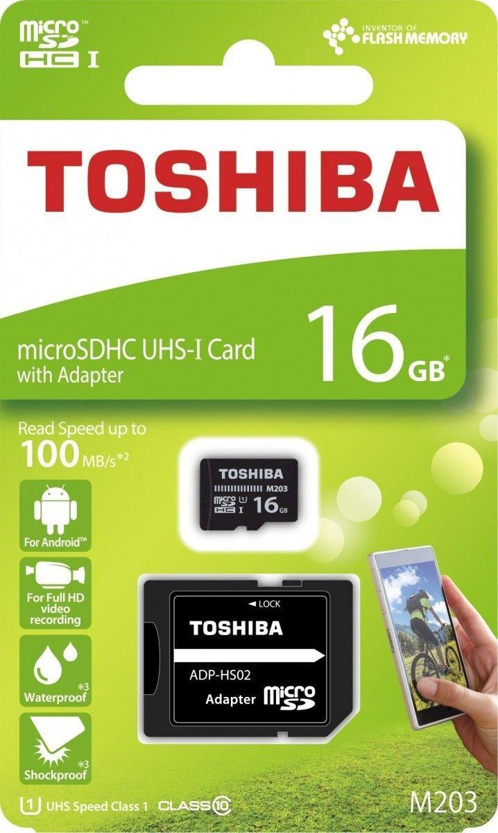 Karta Toshiba M203 MicroSDHC 16 GB Class 10 UHS-I/U1  (THN-M203K0160EA) 1