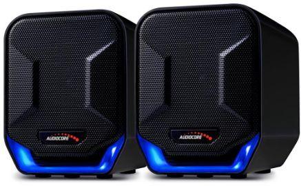 Głośniki komputerowe Audiocore 6W USB czarno-niebieskie (AC865B) ID  produktu: 1753111