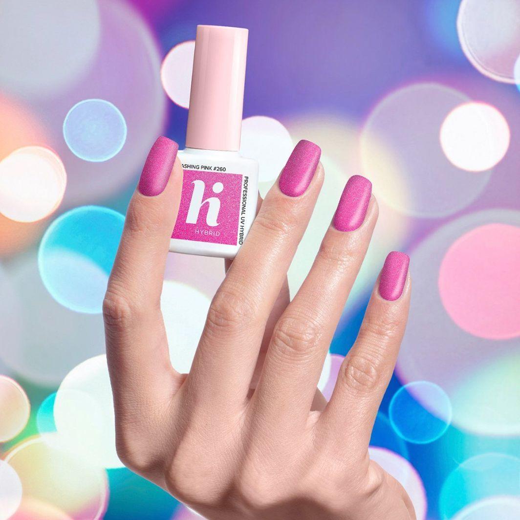 Hi Hybrid Lakier hybrydowy 260 Flashing Pink 5ml 1