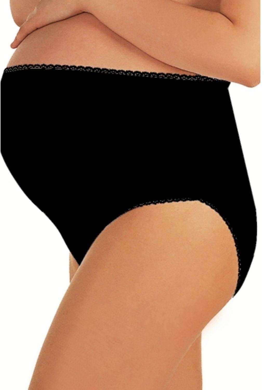 Italian fashion Majtki ciążowe Mama Maxi czarne 2XL 1