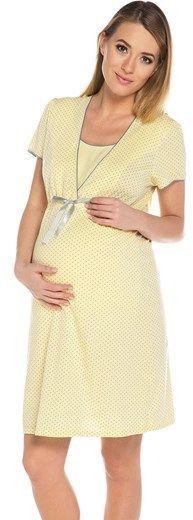 Italian fashion Koszula nocna felicita krótki rękaw żółta r. L 1