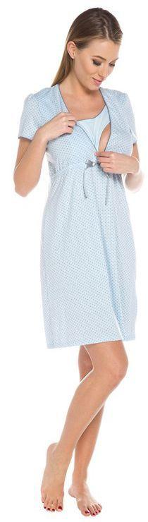 Italian fashion Koszula nocna felicita krótki rękaw niebieska r. 2XL 1