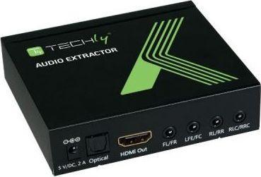 Adapter AV Techly HDMI 4K audio extractor SPDIF Toslink (025756) 1