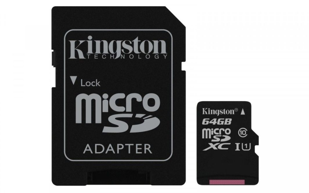 Karta Kingston MicroSDXC 64 GB Class 10  (SDCS/64GB) 1