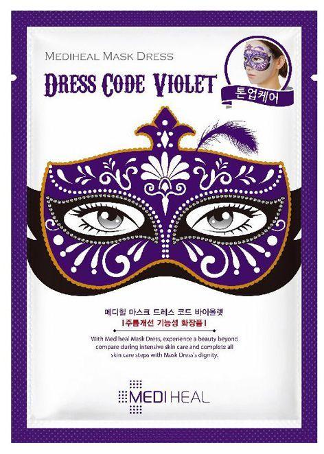 MEDIHEAL Dress Code Violet Karnawałowa maska rozświetlająca do twarzy 24ml 1
