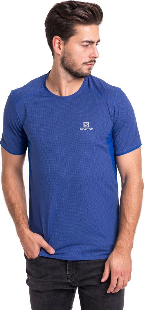 Salomon Koszulka męska Trail Runner SS Tee niebieska r. L ID produktu: 1764829