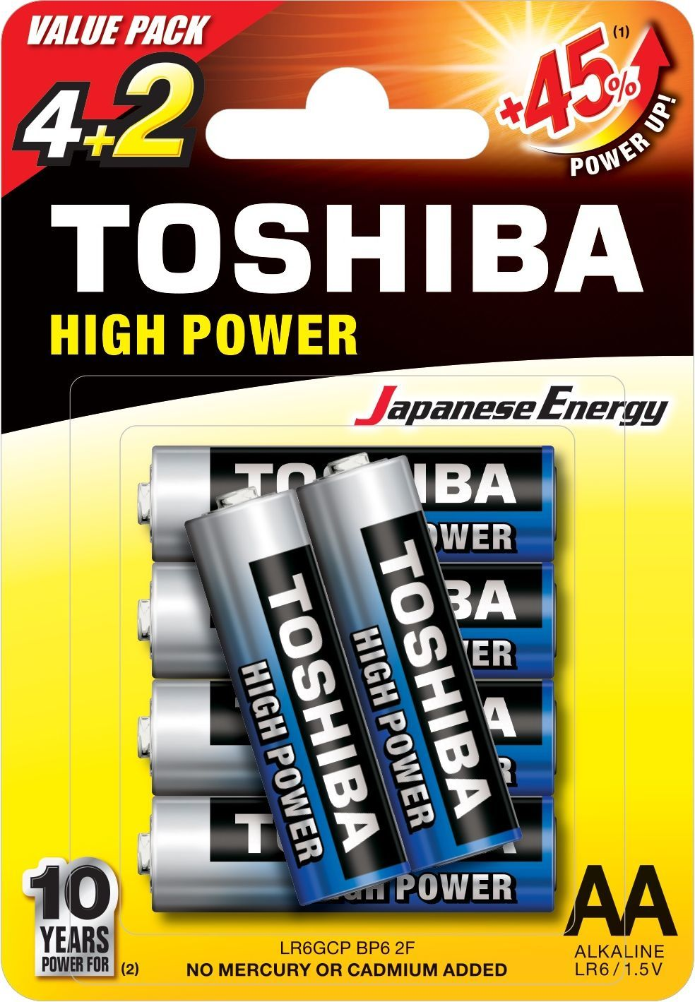 Toshiba Bateria High Power AA / R6 6szt. 1