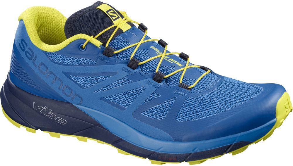 Salomon Sense Ride męskie buty do biegania (niebiesko pomarańczowy)