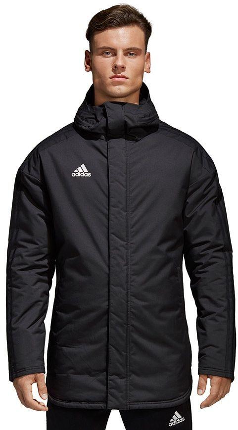 Adidas Kurtka piłkarska JKT 18 STD Parka czarna r. S (BQ6594) ID produktu: 1766894