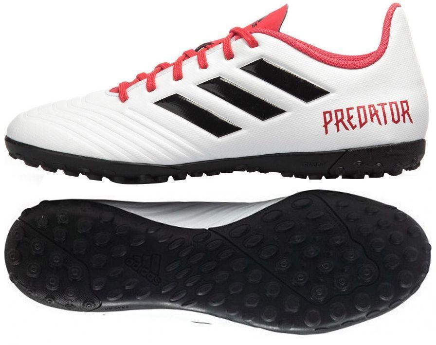 adidas Dziecięce Predator Tango 18.4 TF BiałyCzarnyKoralowy