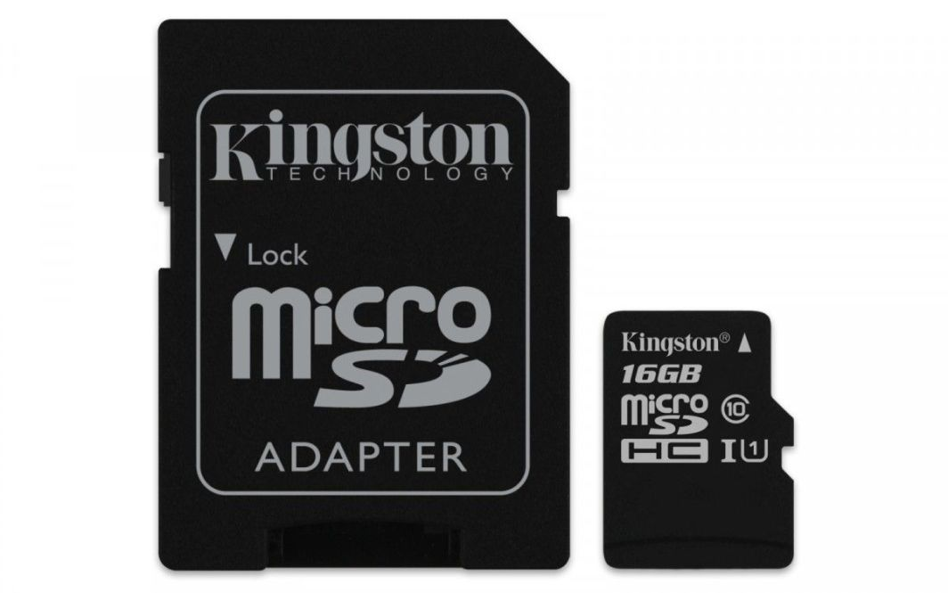 Karta Kingston Canvas Select MicroSDHC 16 GB Class 10 UHS-I/U1  (SDCS/16GB                      ) 1