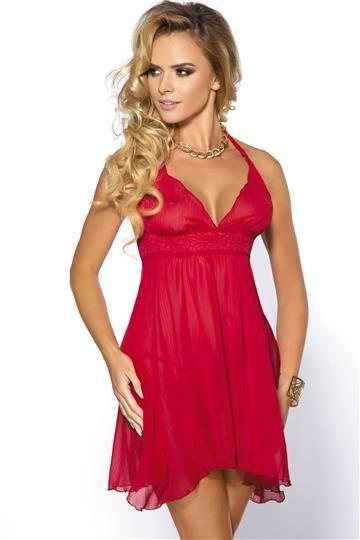 Anais Koszulka nocna Essie + stringi GRATIS! czerwona r. M 1