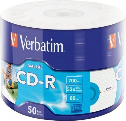 Verbatim CD-R 700MB, x52, Rulon (43794) 1