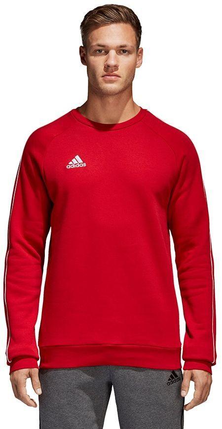 Adidas Bluza piłkarska CORE 18 SW Top czerwona r. M (CV3961) ID produktu: 1777536