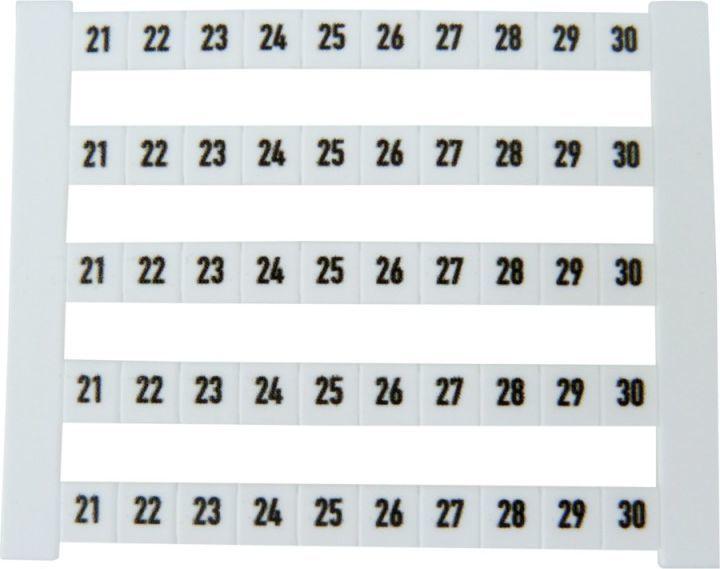 WEIDMULLER Oznacznik poziomy DEK 5 FWZ 21-30 (0523060021) 1