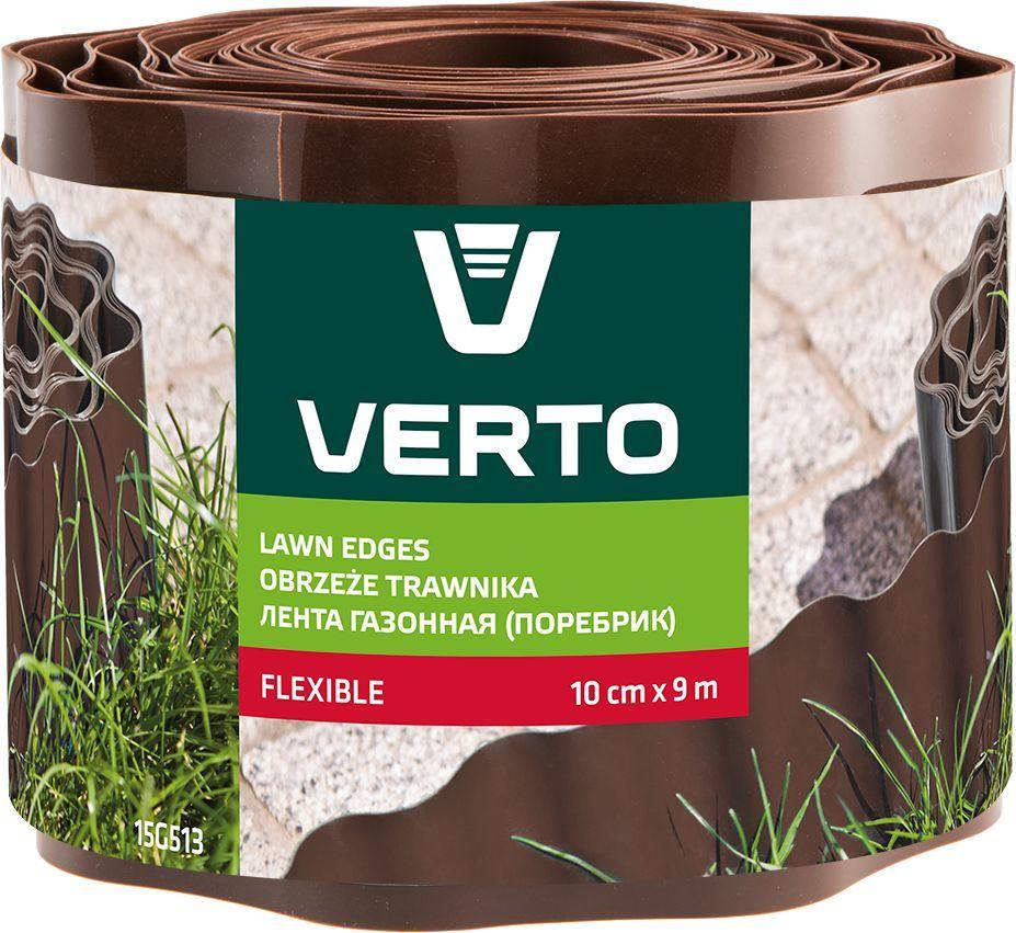 Verto Obrzeże do trawników 10 cm x 9 m, brązowe (15G513) 1