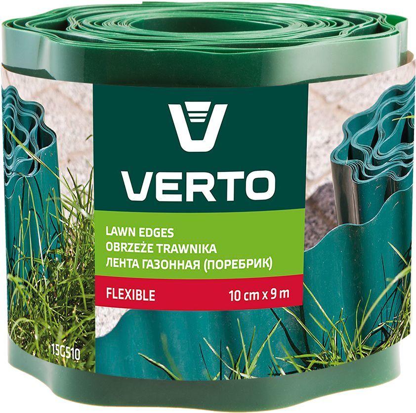 Verto Obrzeże trawnika 10 cm x 9 m, zielone (15G510) 1