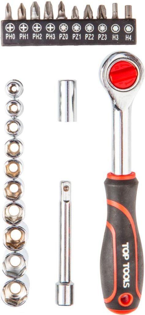 "Top Tools Klucze nasadowe (Zestaw kluczy nasadowych 1/4"", 23 szt.) - 38D505 1"