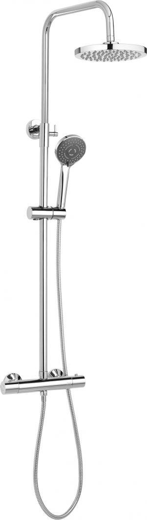 Zestaw prysznicowy Invena Tesalia ll Exe z deszczownicą z baterią termostatyczną chrom (AU-97-002-C) 1