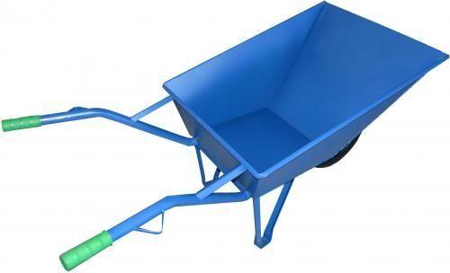 AWTools Taczka budowlana 85 L niebieska z osłoną koła  1